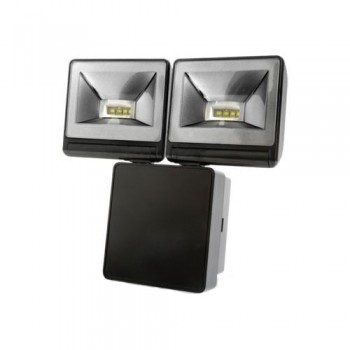 Timeguard 2x 8W LED Energy Saver Floodlight in Black