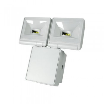 Timeguard 2x 8W LED Energy Saver Floodlight in White