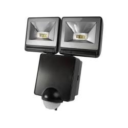 Timeguard 2x 8W LED Energy Saver PIR Floodlight in Black