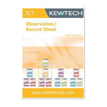 Kewtech TC7 Observation and Record Sheet