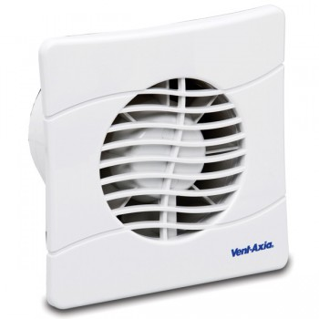 Vent-Axia Basics 100 mm Extractor Fan with Overrun Timer BAS100SLT