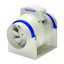 Vent-Axia ACM150T Commercial In-Line 150 mm Mixed Flow Fan with Timer 17106020C