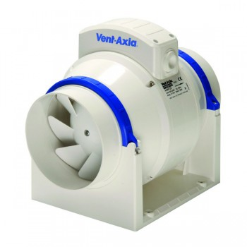 Vent-Axia ACM100T Commercial In-Line 100 mm Mixed Flow Fan with Timer 17104020E