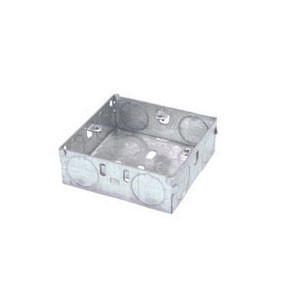 Norslo Switch and socket box Steel 1 Gang 25mm