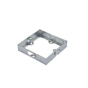 Norslo Extension box Steel 1 Gang 25mm