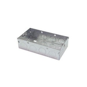 Norslo Switch and socket box Steel 2 Gang 25mm