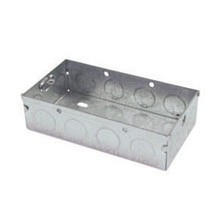 Norslo Switch and socket box Steel 2 Gang 35mm