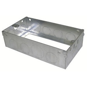 Norslo Extension box Steel 2 Gang 35mm