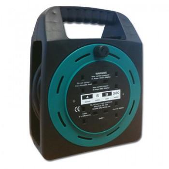 Greenbrook Semi Open Cable Reel 15M 13A 4 Sockets