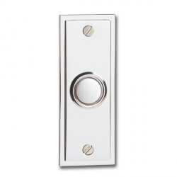 KingShield Chime Push Chrome Flush White Button
