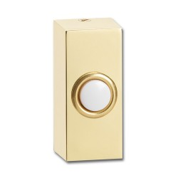 Greenbrook Chime Push Brass White Button