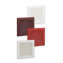 KingShield 150mm Fixed Grille Terracotta