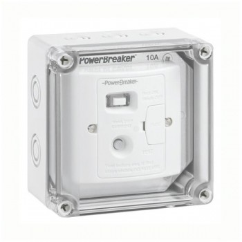 PowerBreaker PowerX IP67 Weatherproof White 10A RCD Fused Spur