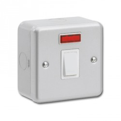 Greenbrook Metalclad 1 Gang 20A Double Pole Switch with Neon