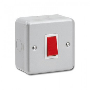Kingshield Metalclad 1 Gang 45A Double Pole Switch
