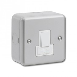 Kingshield Metalclad 13A Double Pole Switched Fused Spur