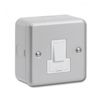 Greenbrook Metalclad 13A Double Pole Switched Fused Spur