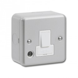 Kingshield Metalclad 13A Double Pole Switched Fused Spur with Cord Outlet