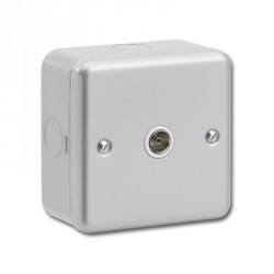 Kingshield Metalclad 1 Gang TV Socket
