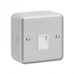 Kingshield Metalclad 1 Gang Telephone Master Socket