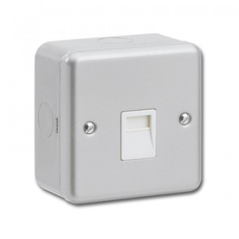 Greenbrook Metalclad 1 Gang Telephone Slave Socket