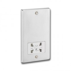 KingShield Shaver Socket Satin Chrome