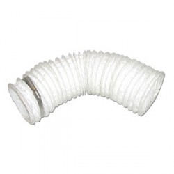KingShield 100mm x 1m PVC Flexible Hose with Clamp