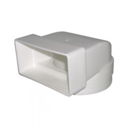 KingShield VA203-P 100mm Elbow Round to Rectangle