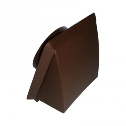 KingShield 100mm Hooded Vent Brown