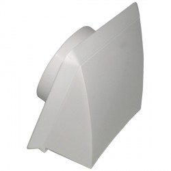KingShield 100mm Hooded Vent White