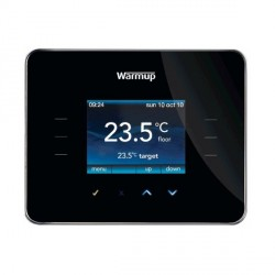 Warmup 3iE Programmable Thermostat in Piano Black
