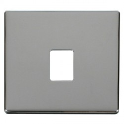 Click Definity SCP115CH Single RJ11/RJ45 Outlet Cover Plate in Polished Chrome