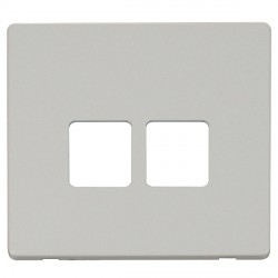 Click Definity SCP121PW Twin Telephone Outlet Cover Plate in Polar White