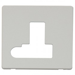 Click Definity SCP151PW Fused Connection Unit with Switch and Flex Outlet Cover Plate in Polar White