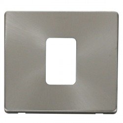 Click Definity SCP200BS 45A 1 Gang Switch Cover Plate in Brushed Steel