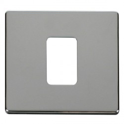 Click Definity SCP200CH 45A 1 Gang Switch Cover Plate in Polished Chrome