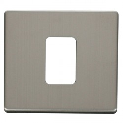 Click Definity SCP200SS 45A 1 Gang Switch Cover Plate in Stainless Steel