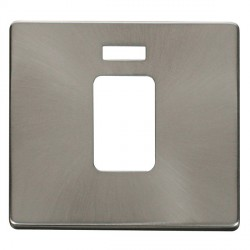 Click Definity SCP201BS 45A 1 Gang Switch with Neon Cover Plate in Brushed Steel