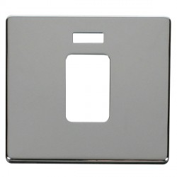 Click Definity SCP201CH 45A 1 Gang Switch with Neon Cover Plate in Polished Chrome