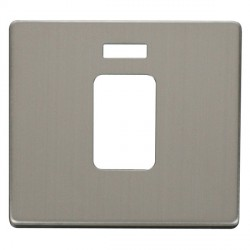Click Definity SCP201SS 45A 1 Gang Switch with Neon Cover Plate in Stainless Steel