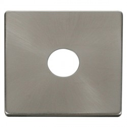 Click Definity SCP221BS 1 Gang Toggle Switch Cover Plate in Brushed Steel
