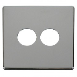 Click Definity SCP222CH 2 Gang Toggle Switch Cover Plate in Polished Chrome