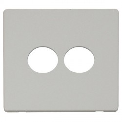 Click Definity SCP222PW 2 Gang Toggle Switch Cover Plate in Polar White