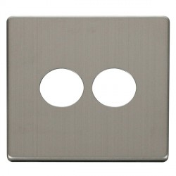 Click Definity SCP222SS 2 Gang Toggle Switch Cover Plate in Stainless Steel