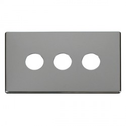 Click Definity SCP223CH 3 Gang Toggle Switch Cover Plate in Polished Chrome
