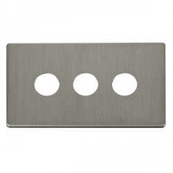Click Definity SCP223SS 3 Gang Toggle Switch Cover Plate in Stainless Steel