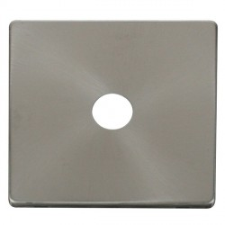 Click Definity SCP231BS Single Coaxial/Satellite Cover Plate in Brushed Steel