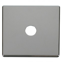 Click Definity SCP231CH Single Coaxial/Satellite Cover Plate in Polished Chrome