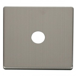 Click Definity SCP231SS Single Coaxial/Satellite Cover Plate in Stainless Steel