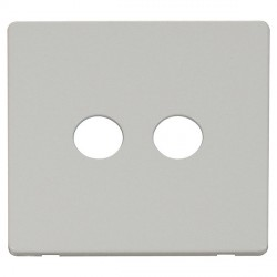 Click Definity SCP232PW Twin Coaxial/Satellite Cover Plate in Polar White